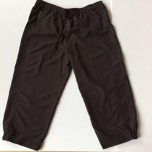 Ellen Tracy Drawstring Cropped Jogger Pants